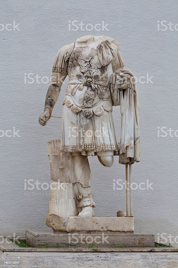 Real bust of a Greek Warrior stock photo