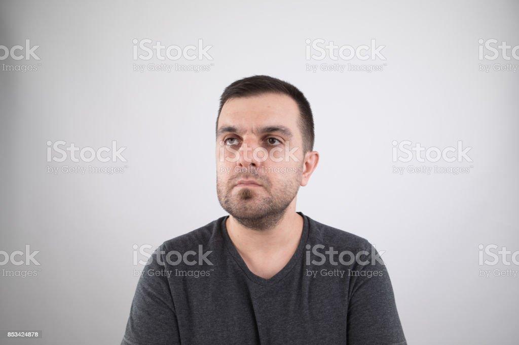 Real caucasian adult man stock photo