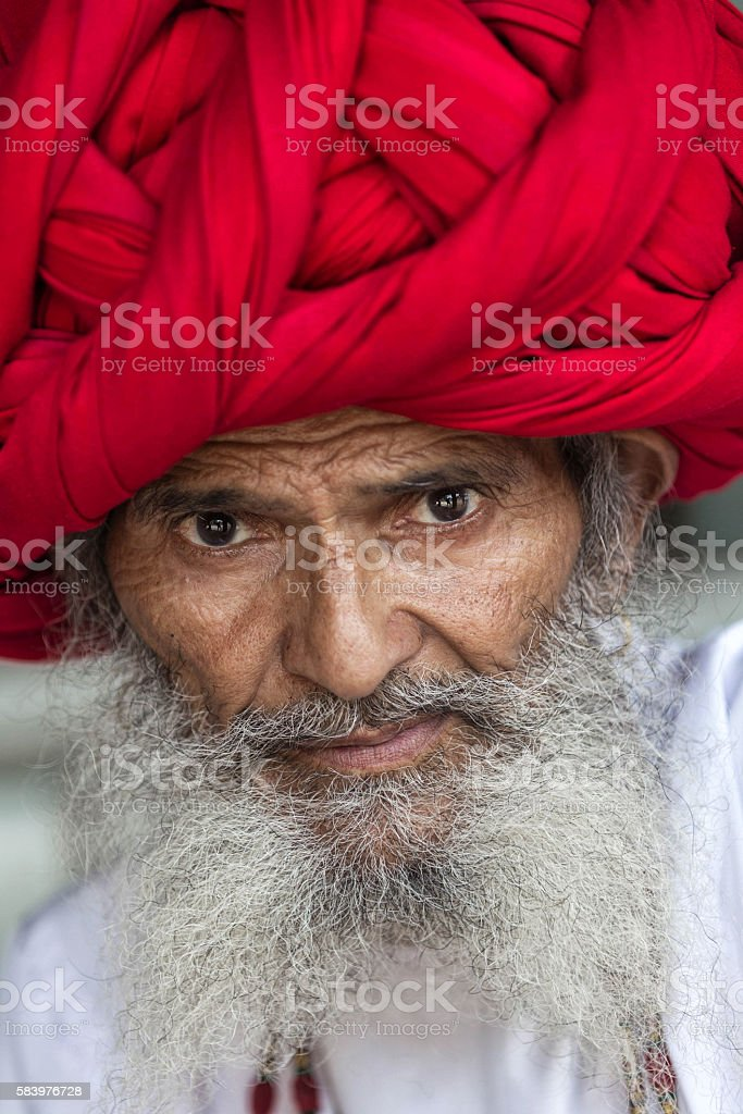 Real Character from Rajasthan, India stock photo