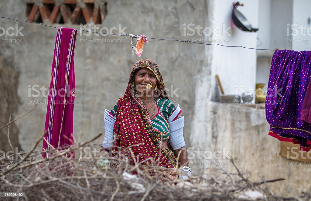 Real Character from Rural India stock photo