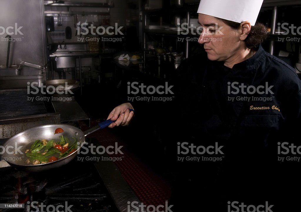 Real Chef cooking royalty-free stock photo