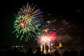 Real colourful fireworks