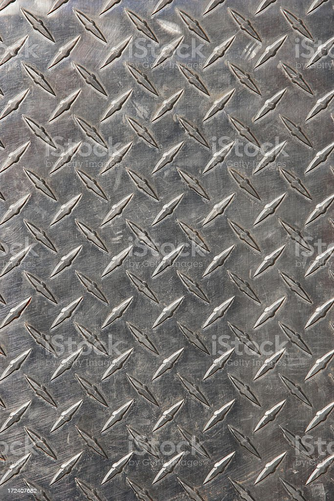 Real diamond plate steel background (XXL) stock photo