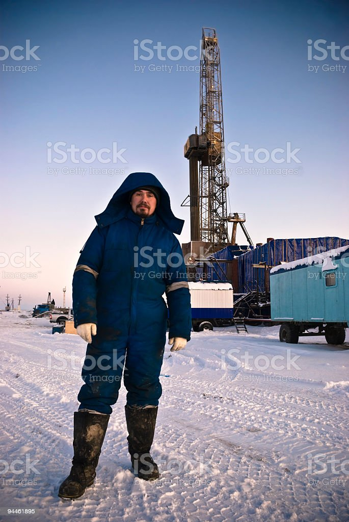 Real Directional Driller stock photo
