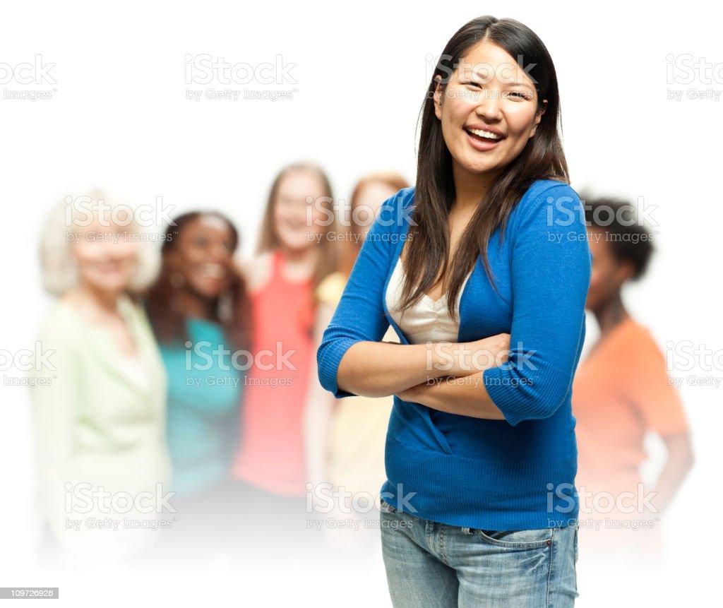 Real Diverse Beautiful Women royalty-free stock photo