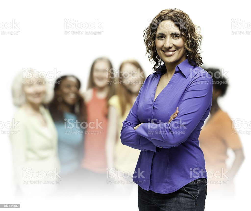 Real Diverse Beautiful Women royalty-free stock photo