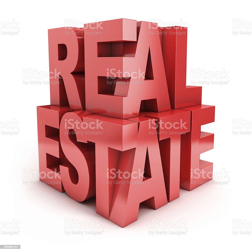 real estate 3d icon stock photo