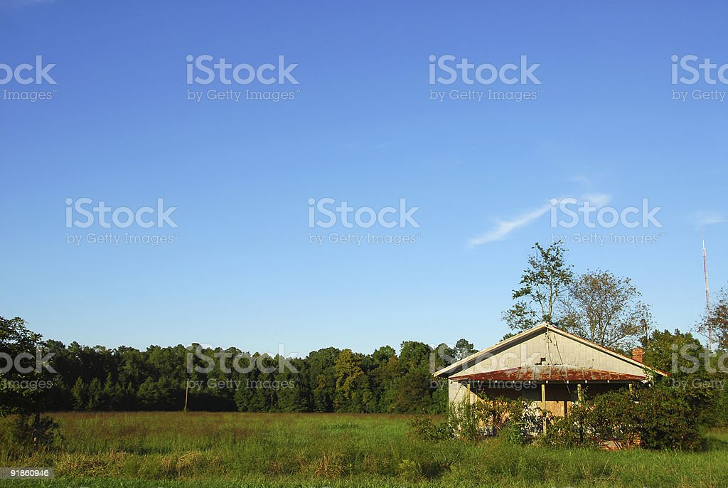 Real Estate: Abandoned Shack royalty-free stock photo