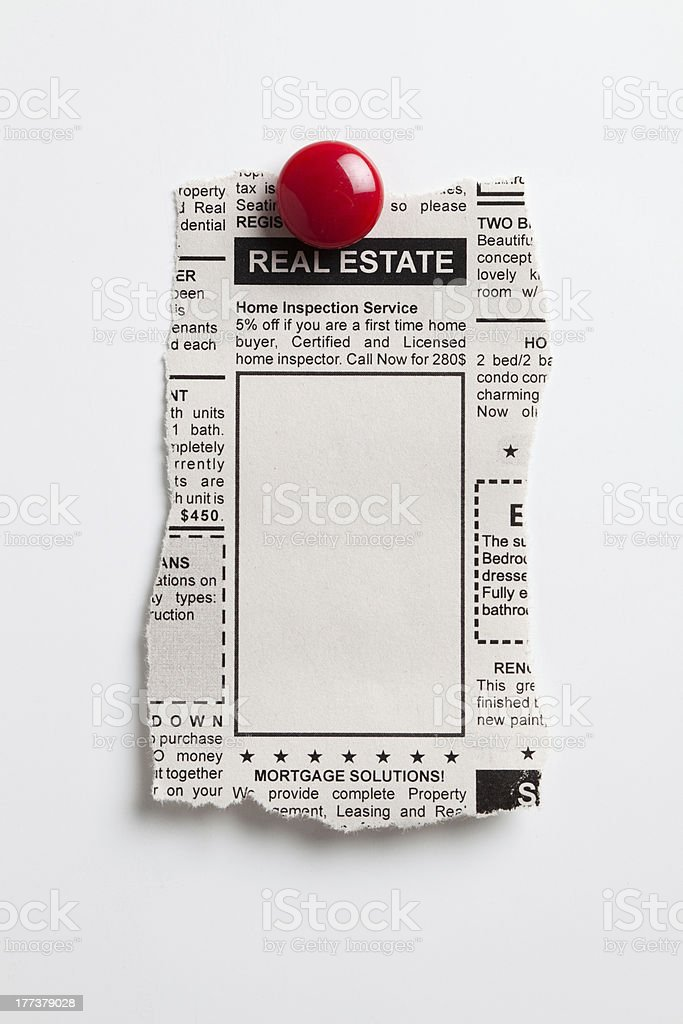 Real Estate Ad stock photo
