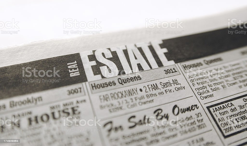 real estate ads royalty-free stock photo