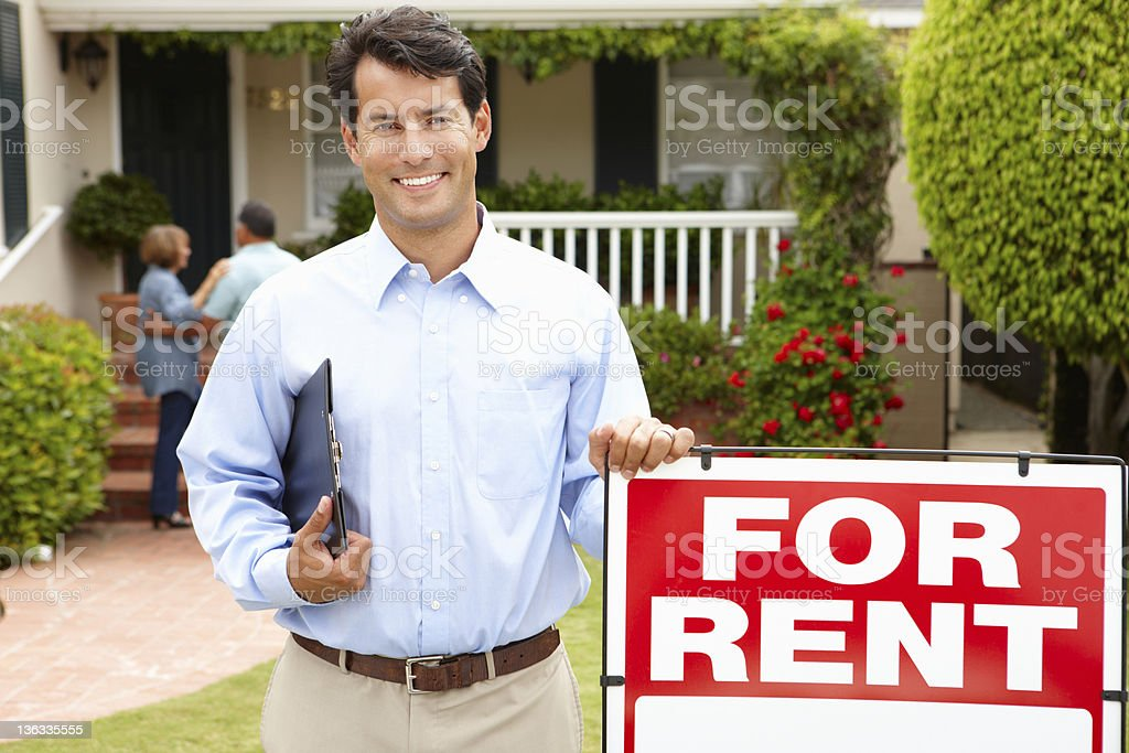 Real estate agent at work royalty-free stock photo