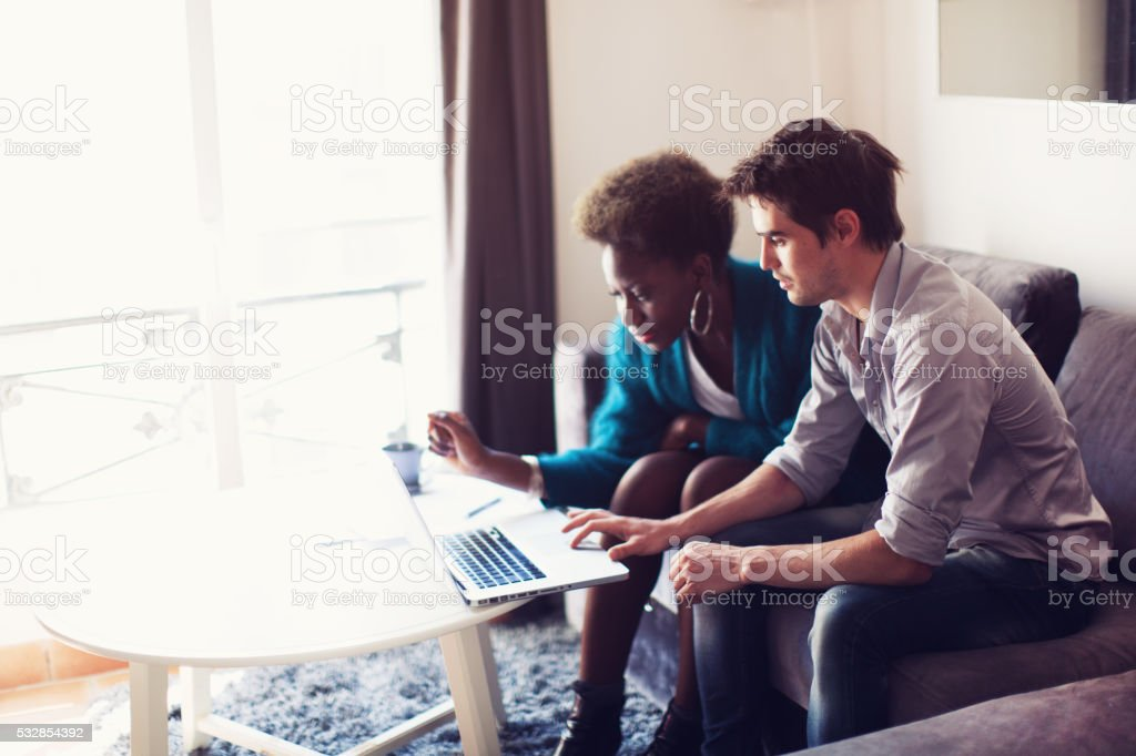 Real Estate Agent at Work stock photo