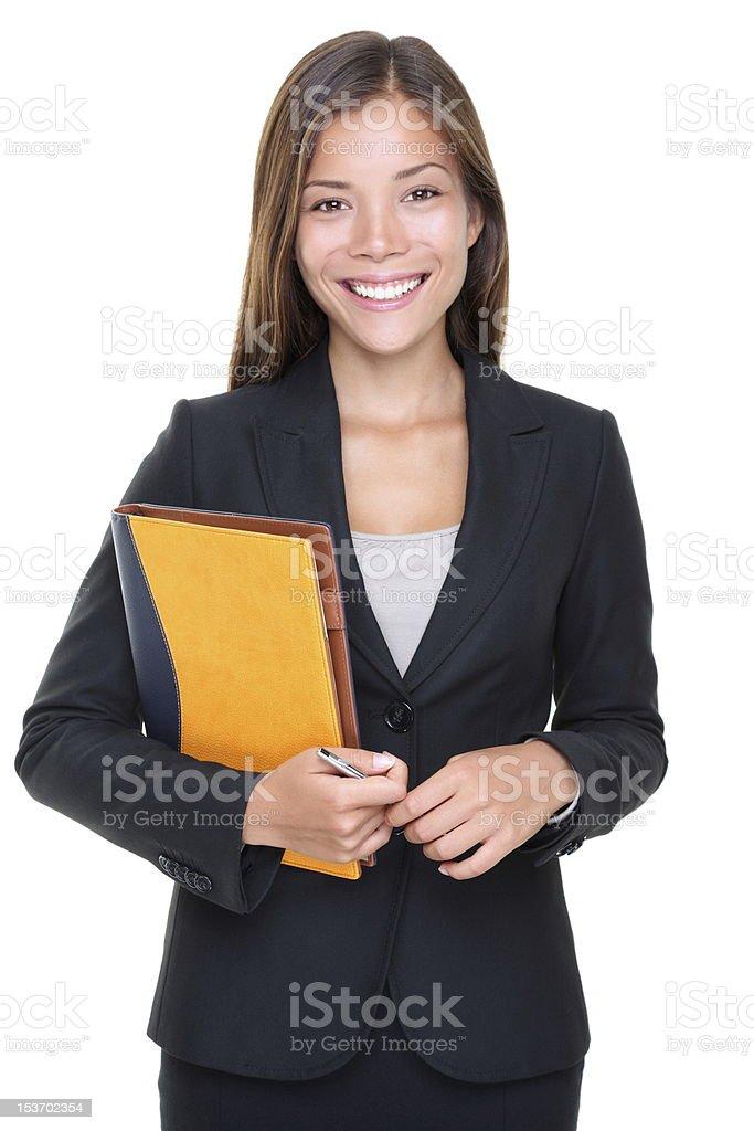 Real estate agent business woman portrait stock photo