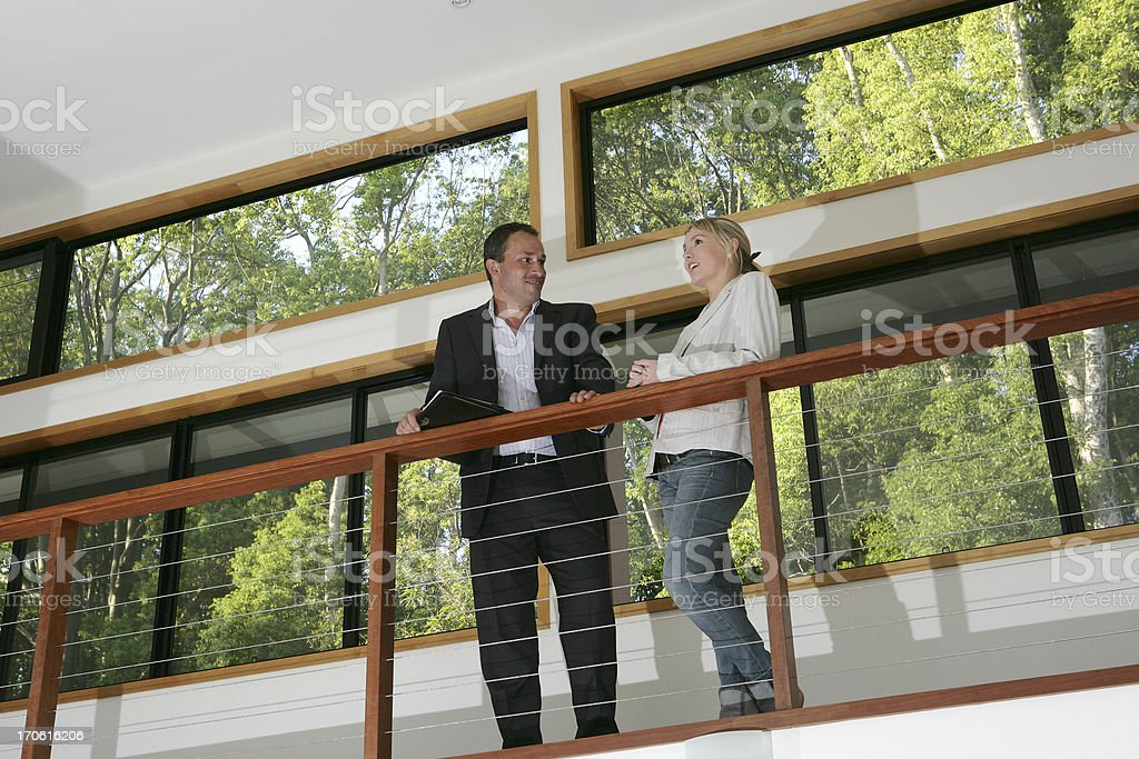 Real Estate Agent & Client royalty-free stock photo