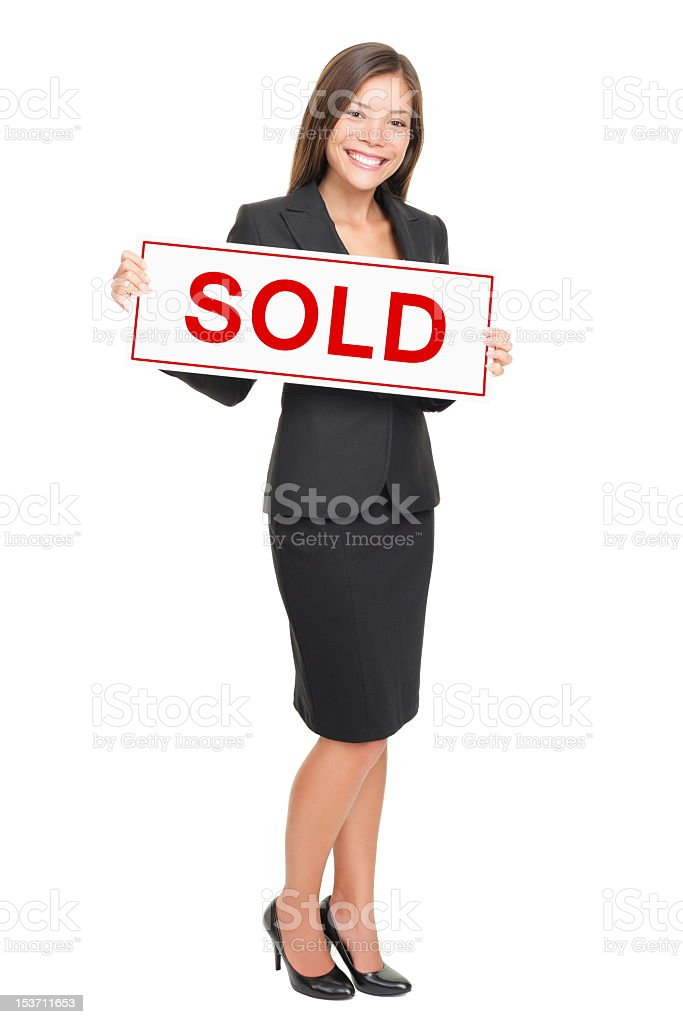 Real Estate Agent isolated on white background royalty-free stock photo