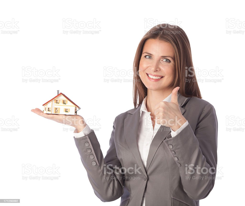 Real estate agent. royalty-free stock photo