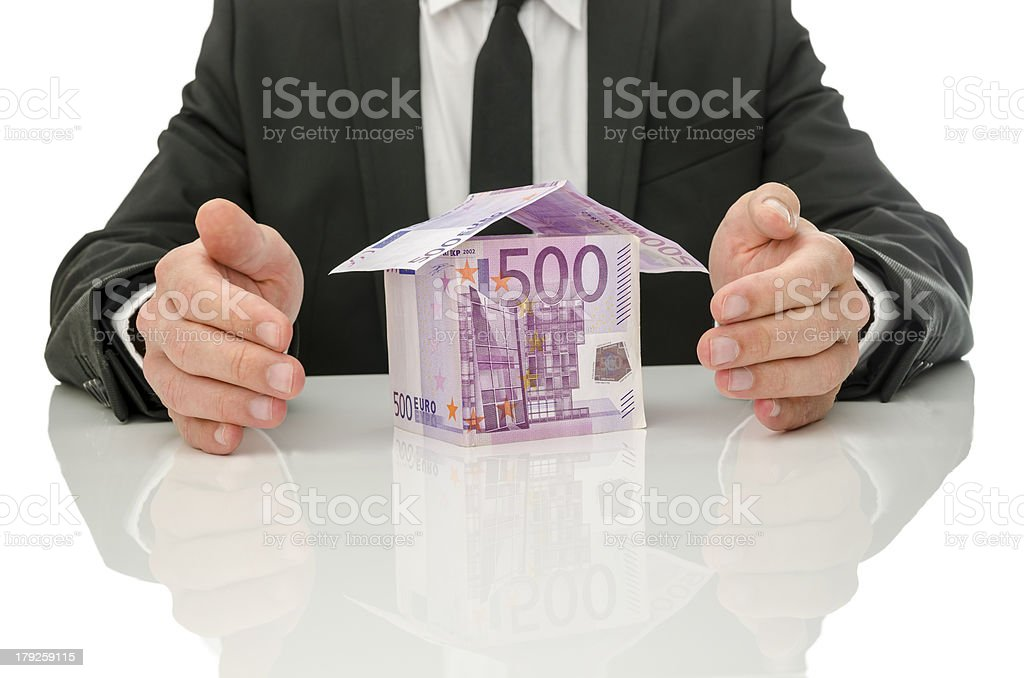 Real estate and insurance crisis solution royalty-free stock photo