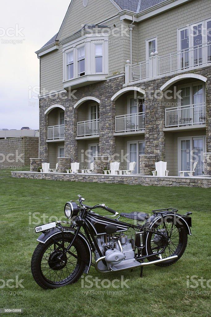 Immobilier et de moto Vintage photo libre de droits