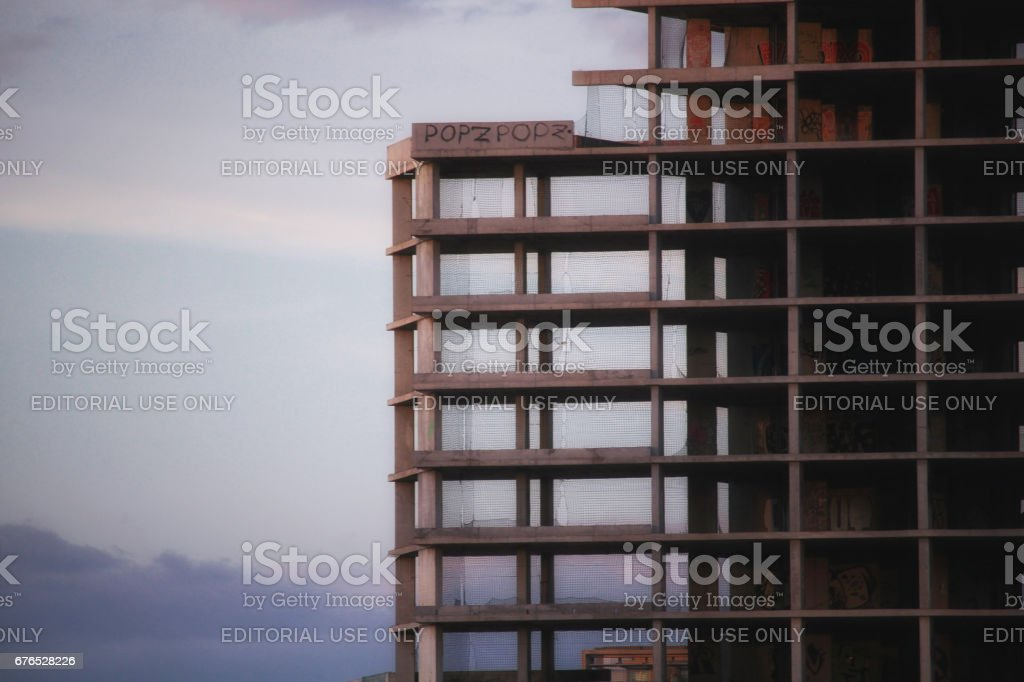 Real estate bubble consequences stock photo