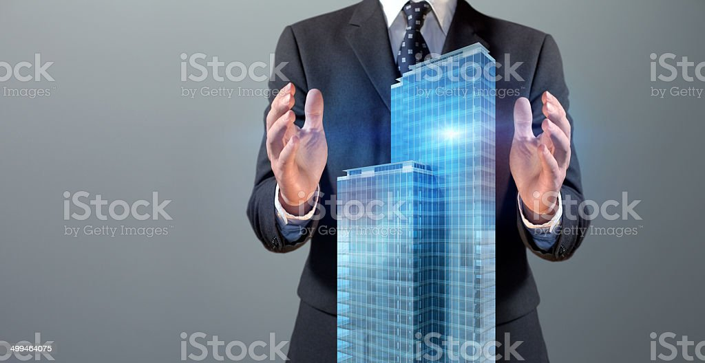 Real estate business and facility manager stock photo