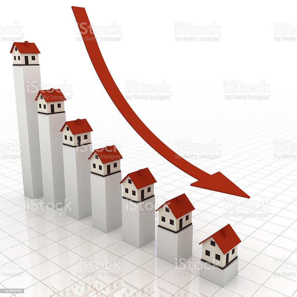 Real Estate Chart royalty-free stock photo