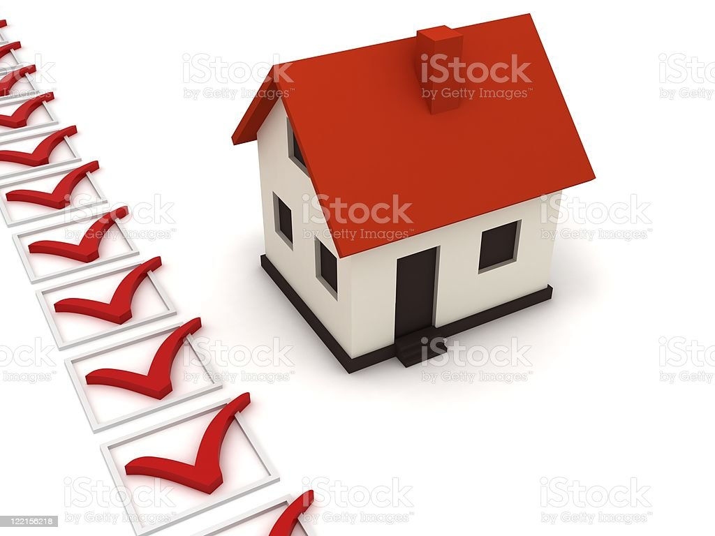 Real Estate Checklist royalty-free stock photo