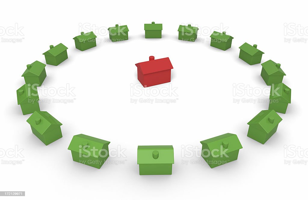 Real Estate Concept I (Isolated) royalty-free stock photo