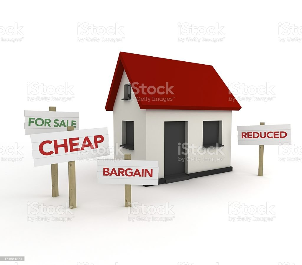 Real Estate Concept - Property Bargain royalty-free stock photo