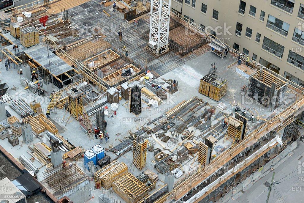 Real estate construction site, Toronto, Canada stock photo
