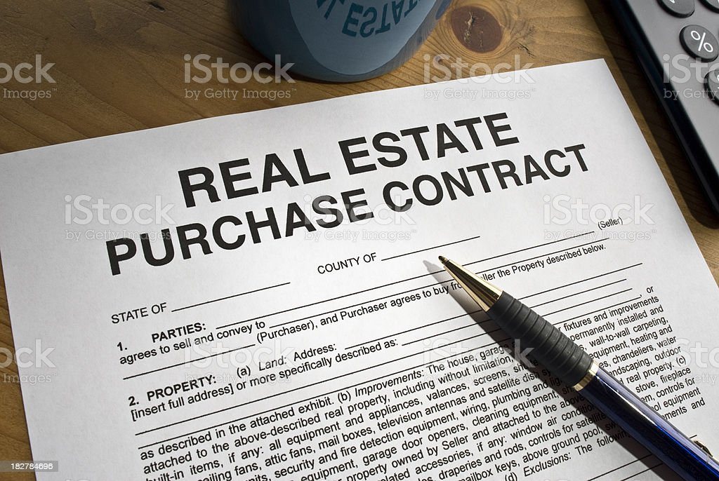 Real Estate Contract royalty-free stock photo