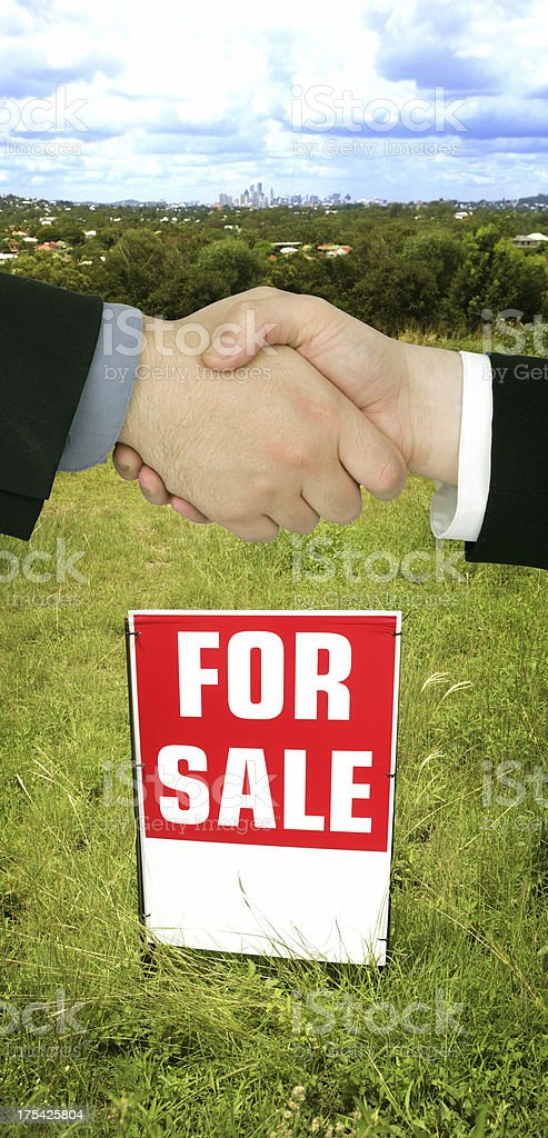 Real Estate Deal royalty-free stock photo