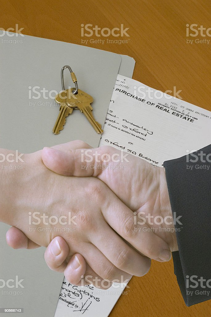 Real Estate - Done Deal stock photo