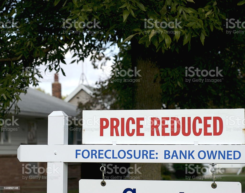 Real Estate Down Market: Foreclosure stock photo