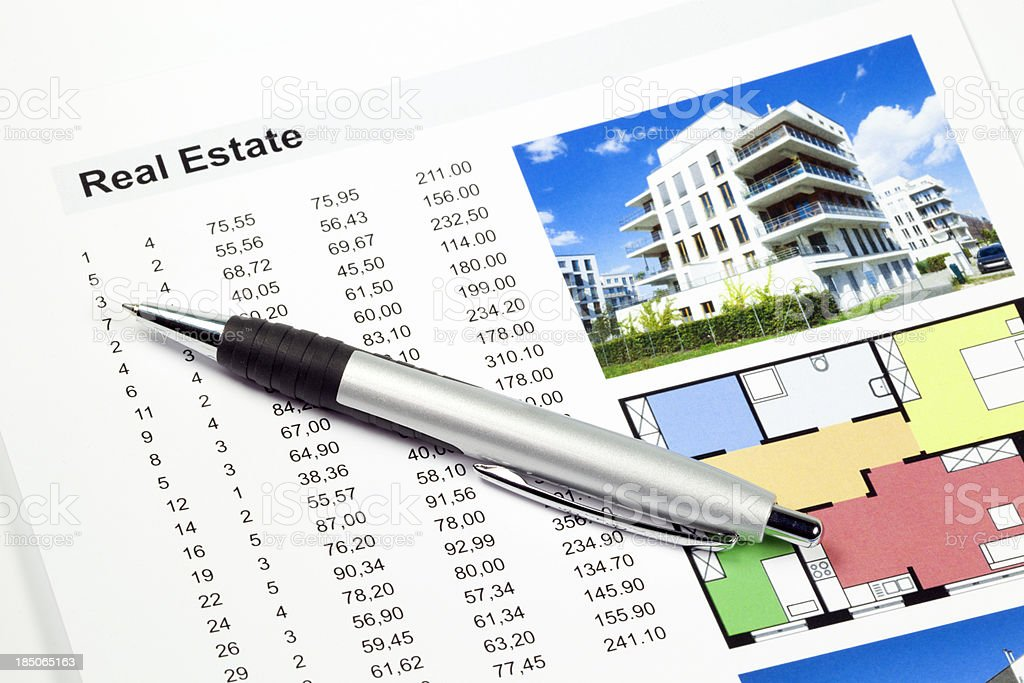 Real Estate - folder with data royalty-free stock photo