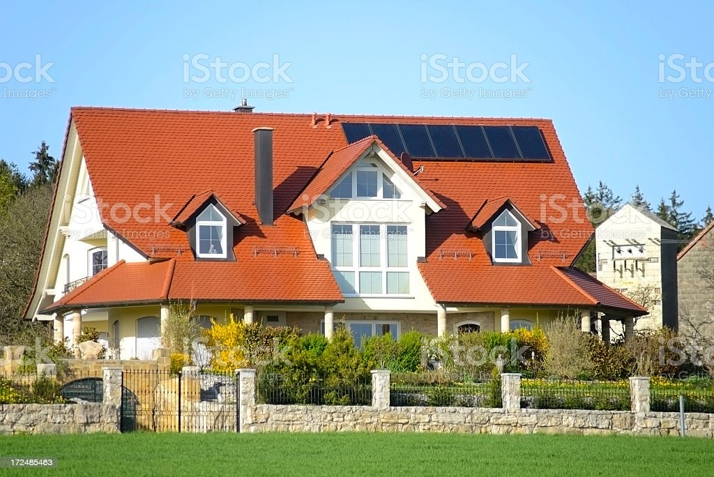 real estate home with garden royalty-free stock photo