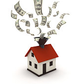 Real estate house mortgage money price concept