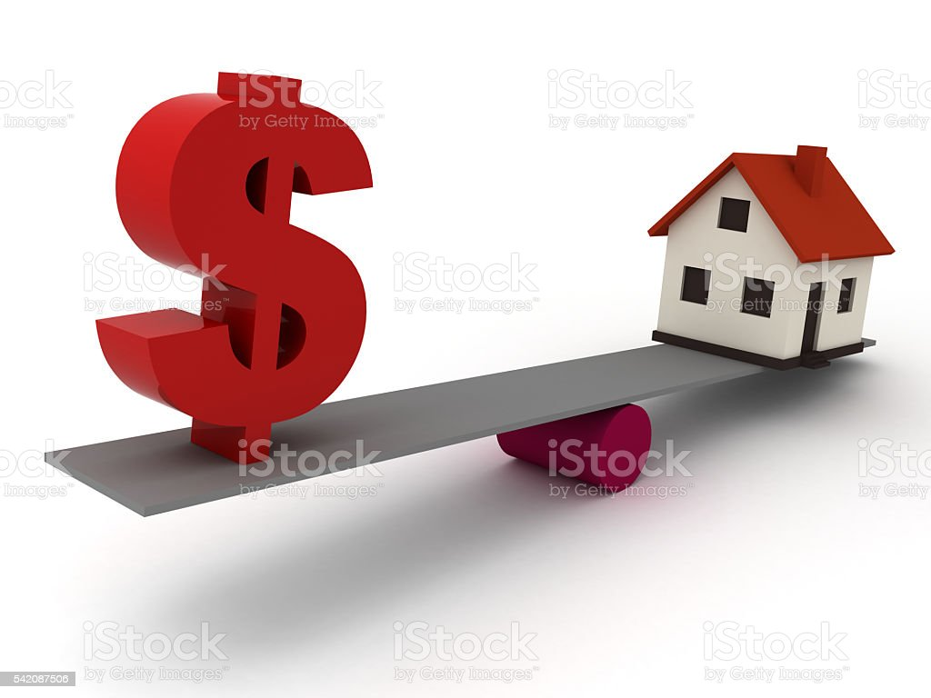 Real estate house price mortgage finance concept stock photo
