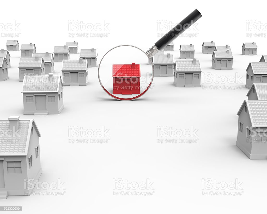 Real estate house search stock photo