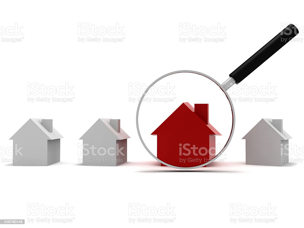 Real estate house search review concept stock photo
