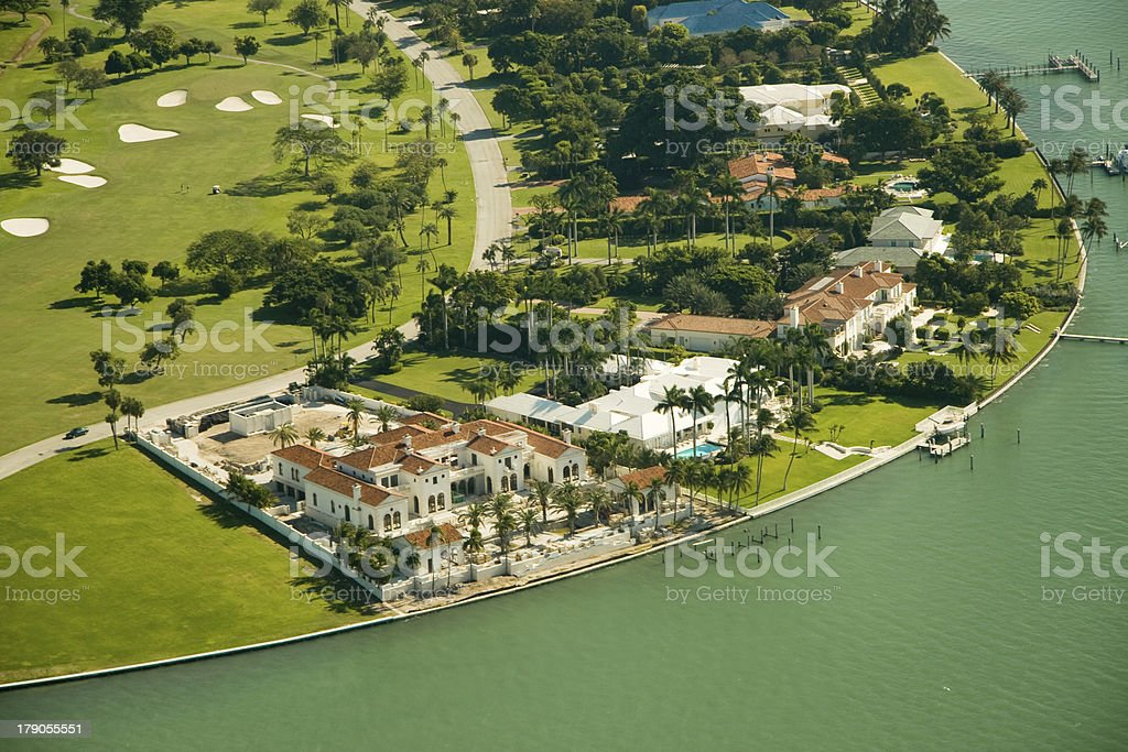 Real estate in Miami royalty-free stock photo
