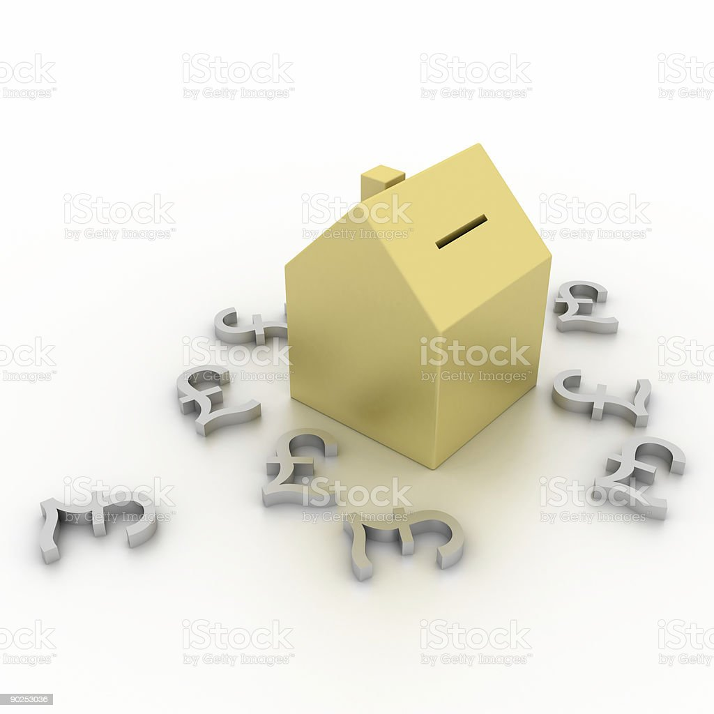 Real Estate Investment (with British Pound symbol) royalty-free stock photo