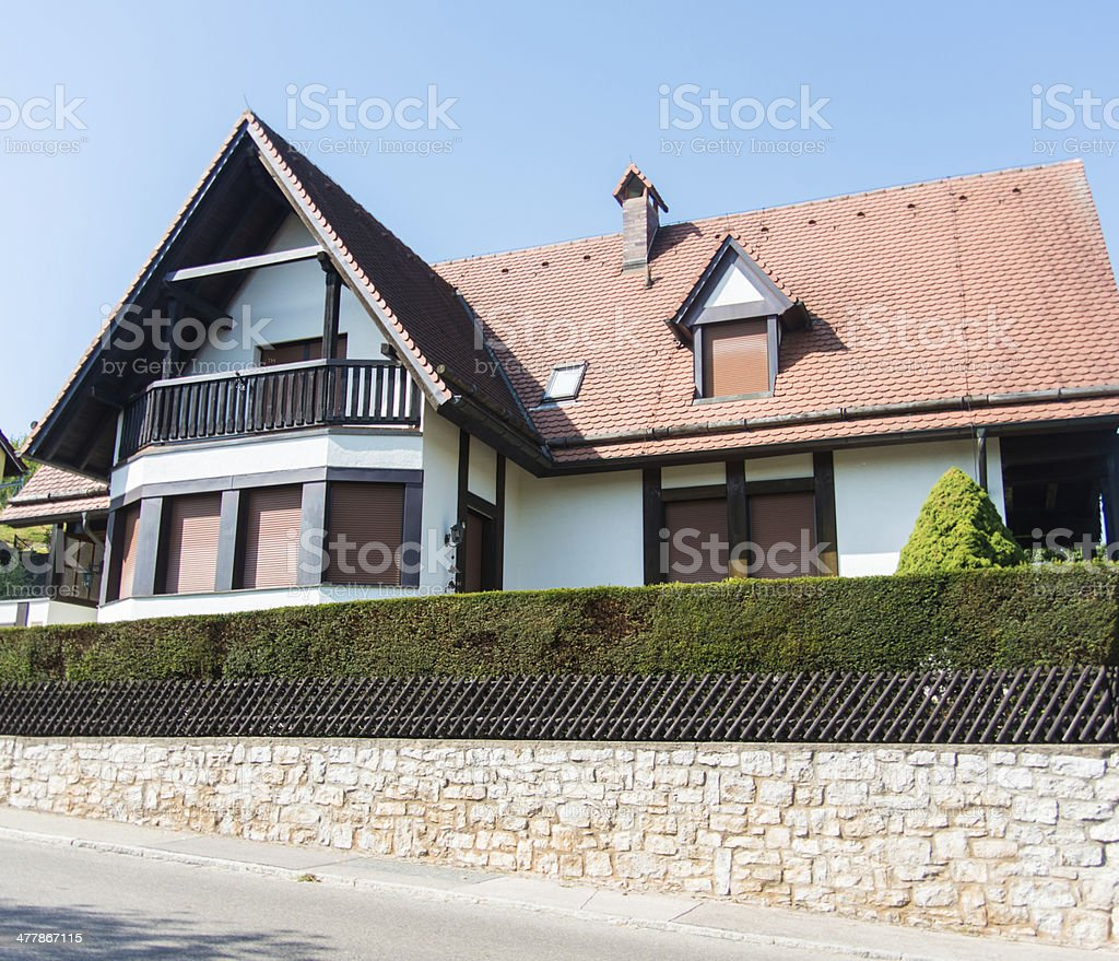 real estate isolated home with garden royalty-free stock photo