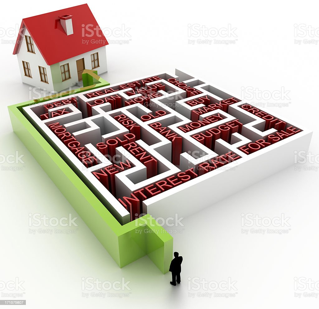 Real Estate labyrinth royalty-free stock photo