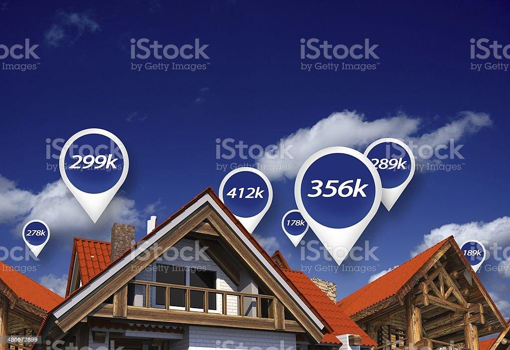 Real Estate Market Prices stock photo