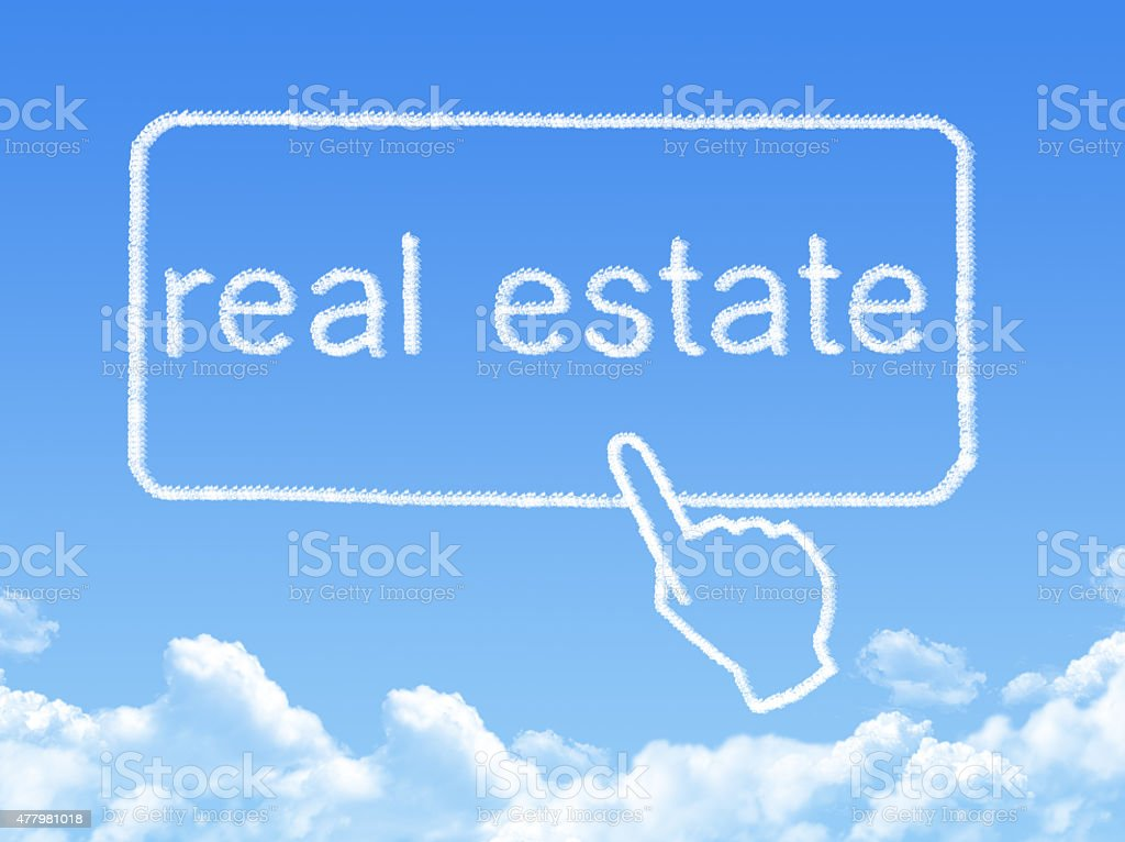 real estate message cloud shape stock photo