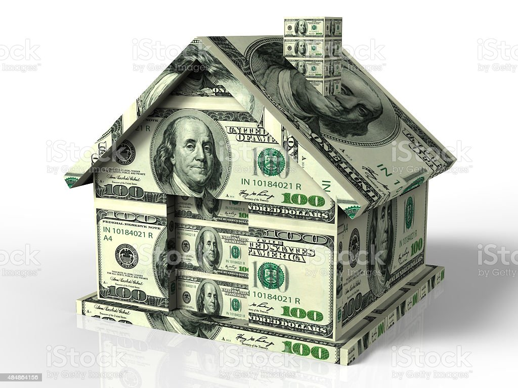 Real estate money stock photo