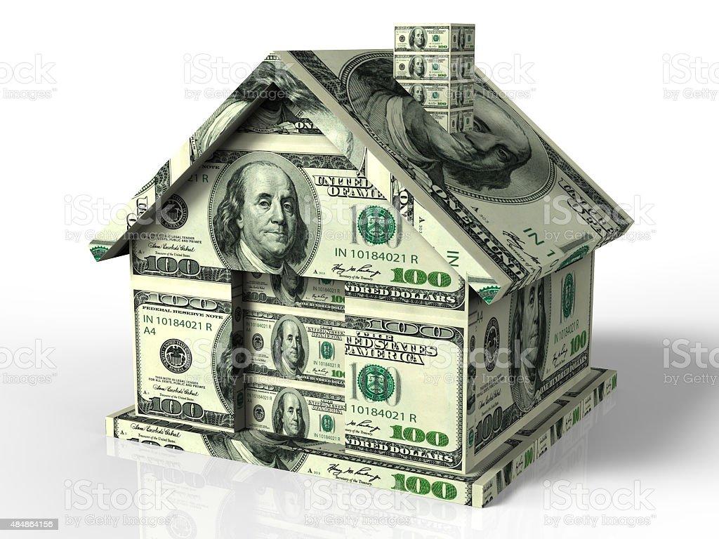 Real estate money stock photo