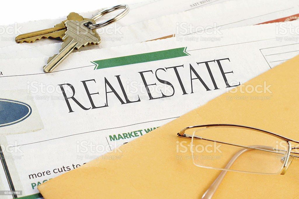 real estate news stock photo