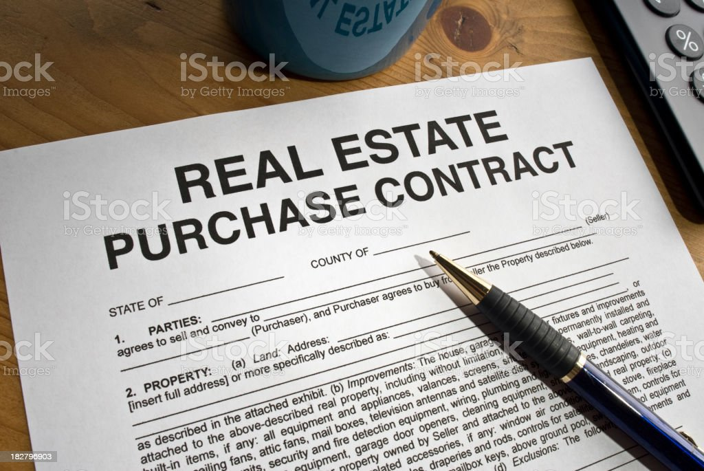 Real Estate Purchase Document royalty-free stock photo