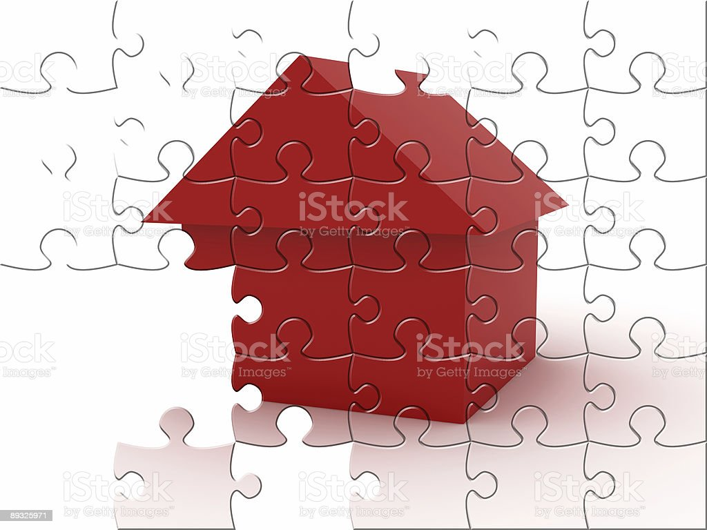 Real Estate Puzzle royalty-free stock photo